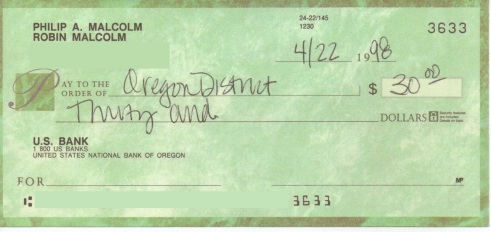 This is the actual check!