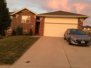 Last look at our house before handing over the keys
