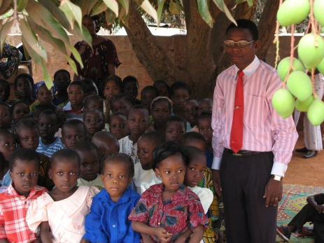 Pastor Rene with a Sunday school class, 2007