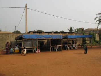 We built 2 shelters at Rene's church in 2007