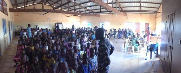 2015: Over 300 kids in the upstairs space of the new building!
