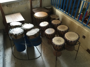 Different types of West African drums